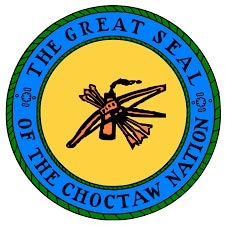 the great seal of the choctaw nation logo